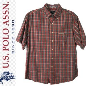 VTG U.S. POLO ASNN short sleeve button shirt S